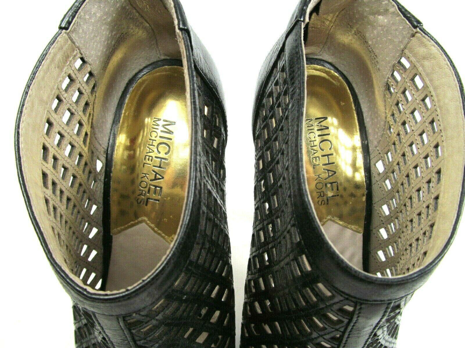 Michael Kors Womens Peep Toe Stilettos Platforms With Cutouts Size US 6 M image 7