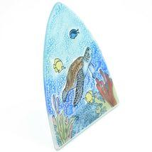 Fused Art Glass Sea Turtle & Fish Nightlight Night Light Handmade Ecuador image 6
