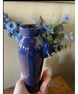 """8"""" Tall Cobalt Blue Elegant Vase Vintage 4"""" Diameter At Top, 2 3/4"""" D Base - $15.84"""