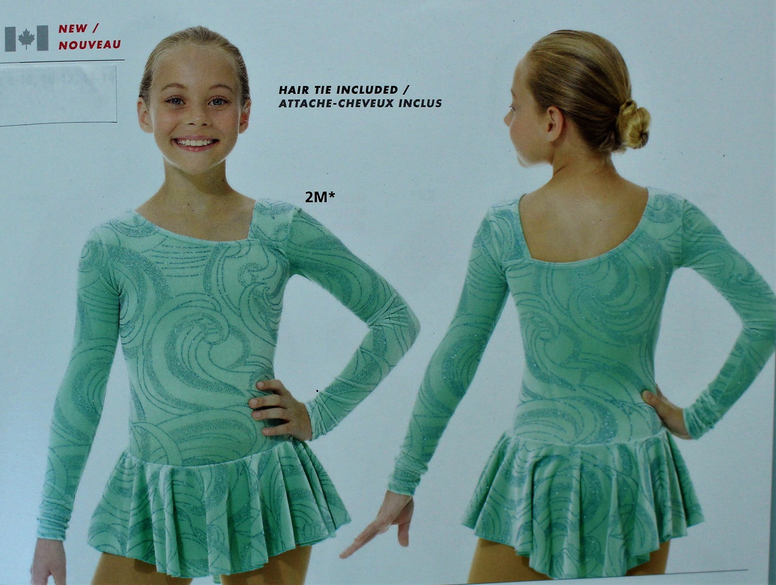Primary image for Mondor Model 2769 Girls Skating Dress - Icy Mint Size Child 8-10