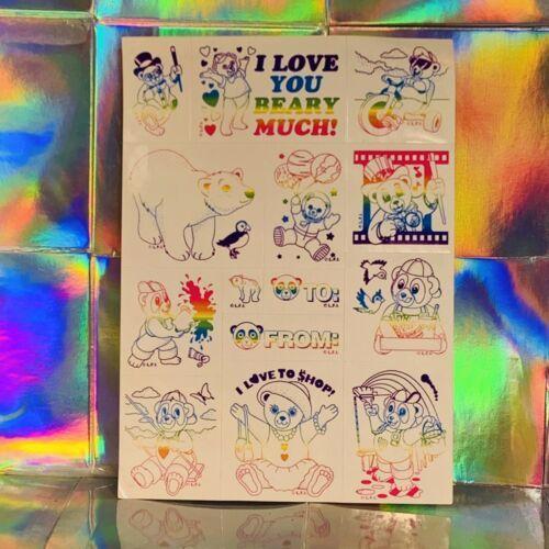 Lisa Frank Rare Rainbow Outline Sticker Sheet Complete Luv 2 Shop S932-07 HTF
