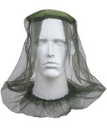 Olive Drab Mosquito Hat Insect Head Net Pocket Mesh Repellent Bugs Flies... - $6.99