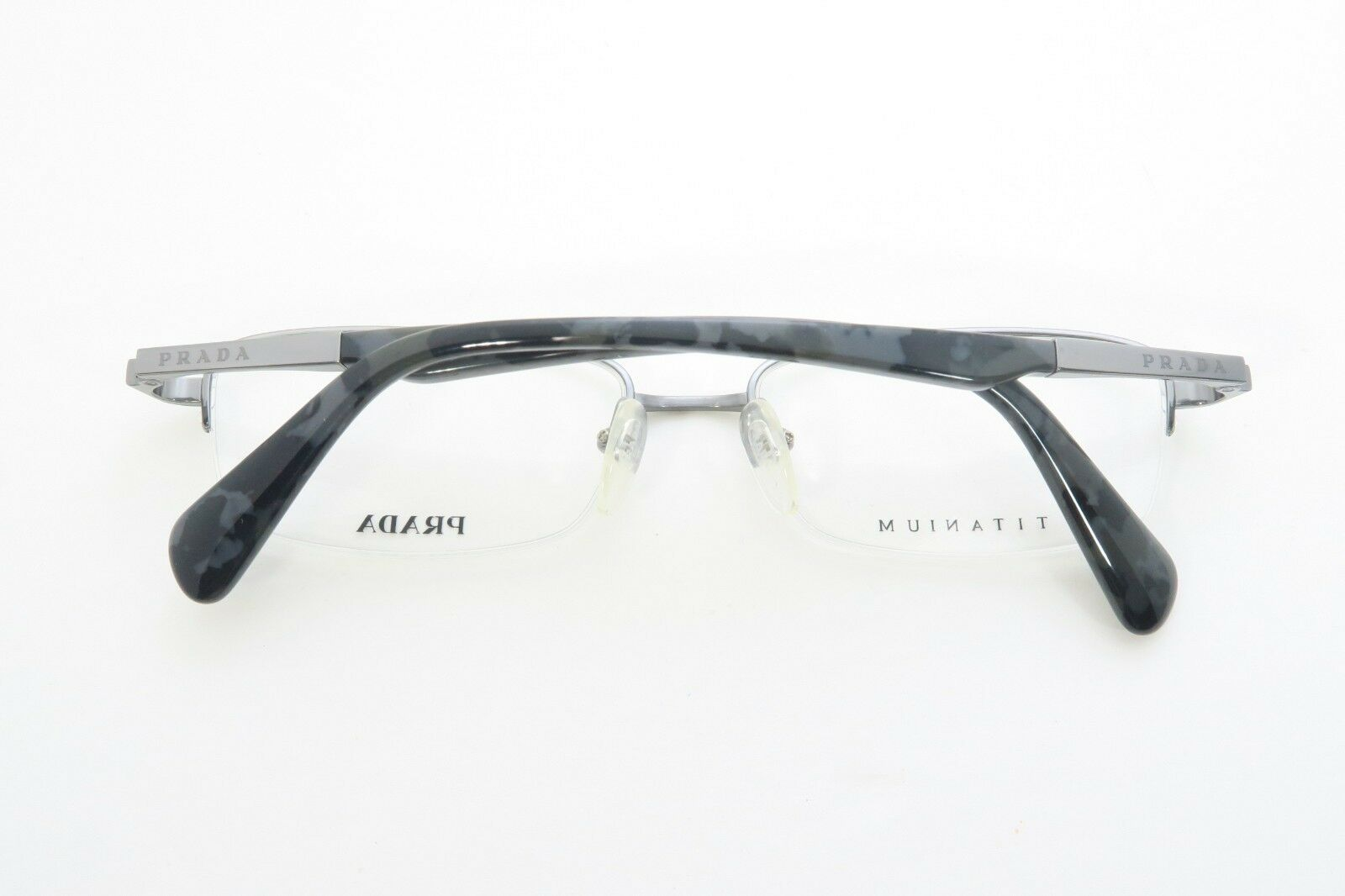 Prada Women's Silver Glasses with case VPR 68Q 75S-1O1 54mm