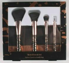 New 10 pc. Cosmetic Travel + Contour Foundation Brush Set With Bonus Bags image 2