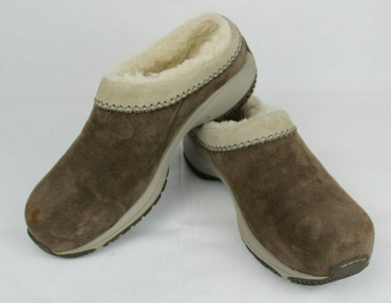 Merrell Encore chill stitch women's brown suede fleece lined clogs size 7