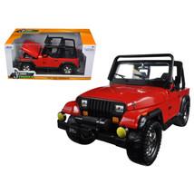 1992 Jeep Wrangler Red 1/24 Diecast Model Car by Jada 98081 - $32.30