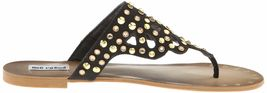 Not Rated Make it Rain Studded Crystals Summer Thong Sandals Beach Slippers NIB image 5