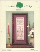 Seasons Sampler Counted Cross Stitch Pattern Special Stitches on Linen - $7.50