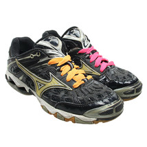 MIZUNO Wave Lightning Womens Size 9 Black Athletic Volleyball Court Shoes - $34.64