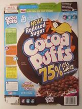 Empty GENERAL MILLS Cereal Box 2004 Cocoa Puffs 12 oz 75% Less Sugar [G7... - $9.02