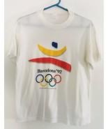 Vtg 1988 Barcelona 1992 Olympic Summer Games Spain Single Stitch T Shirt... - $47.50