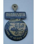 Vintage Fold Over Pin-back Minnestoa land of 10,000 Lakes - $14.01