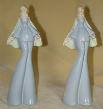 Vtg 1960s-1970s Ladies Tall Women Bell Bottoms Blue Figurines Lot 2 Made... - $15.00