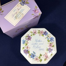 "Vintage '82 Avon ""Loving Treats"" Decorative Tin Canister ""Mother..Word for LOVE"" - $11.26"