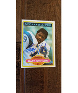 1980 Topps Unterzeichnet Auto Rookie Card Gary Johnson Chargers 49ERS Gr... - $35.02