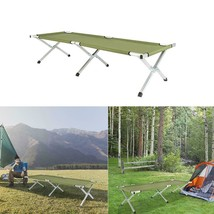 Folding Camping Cot with Carrying Bags Outdoor Travel Hiking Sleeping Ch... - $65.99