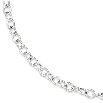Primary image for Lex & Lu Sterling Silver Cable 6.75mm Necklace 18""