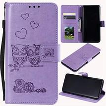 XYX Wallet Case for LG G6, LG G6 Cases, Embossed Couple Owl Slim Flip Ca... - $8.78