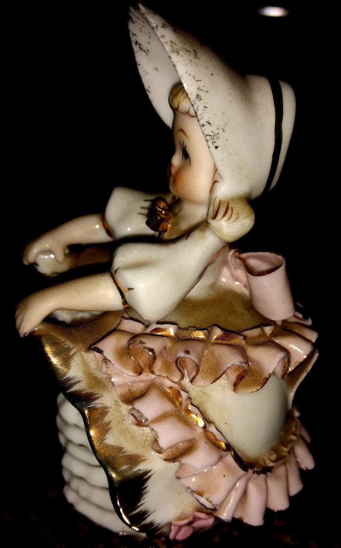 Vintage Geo. Z. Lefton Bloomer Girl Figurine