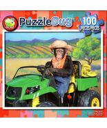 Chimp Tractor - 100 Piece Jigsaw Puzzle - $10.99