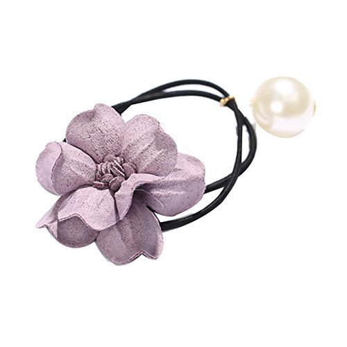 3 Pieces Flower Hair Ropes Ponytail Holders Styling Accessories Sweet Style
