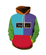 Fashion new men's multicolor loose street hooded sweater - $40.50