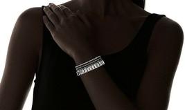 "Stella & Ruby 7"" - 8.75"" Silver Tone Crystal Baguette Bracelet image 2"