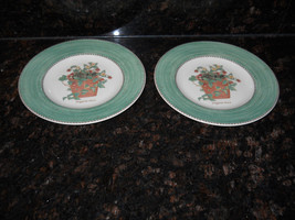Wedgwood Sarah's garden set of 2 salad plates green - $19.75