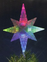 "11"" Lighted LED Color Changing Star Christmas Tree Topper - Multi Lights - $27.22"