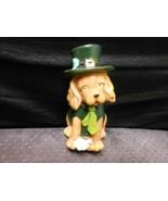 "Sitting Dog Ceramic Dressed For St. Patrick's Day 4"" - $10.84"