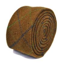 Frederick Thomas marron vert & bleu 100% LAINE TWEED Cravate ft2171