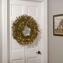National Tree 24 Inch Norwood Fir Wreath with 50 Battery Operated Warm White LED image 3