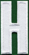 Letter H english alphabet language school applique iron-on patch new S-854 - $1.87 CAD