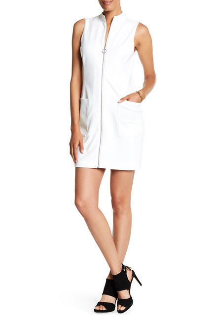 NWT! 1.State White Sleeveless Zip-Front Dress - Size 6  $129 MFSRP