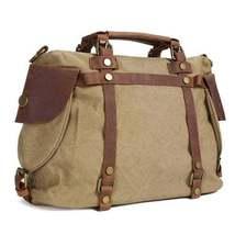On Sale, Canvas With Leather Bag, Leather Briefcase, Messenger Bag, Shoulder Bag image 2