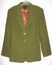 Sz 14 - Laura Scott Green Wool Blend Suit Jacket Size 14 - $47.49