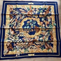 Hermes Scarf Stole CASSE NOISETTE Animal Squirre Silk Woman Auth New Car... - $397.06