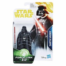 Star Wars Force Link 2.0 Darth Vader 3 3/4 Inch Action Figure MIB - $19.78