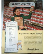Campbell's soups 21 Kinds To Choose From Advertising Print Ad Art 1947  - $8.99