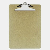 "OIC Recycled CLIPBOARD 9"" x 12.5"" Brown Smooth Hardboard Butterfly Clip ... - $8.59"