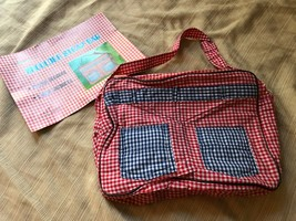 Vintage Gingham style fabric Purse shoulder Bag - Hong Kong new in package - $19.81
