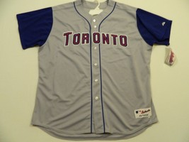 M10 Rare MAJESTIC AUTHENTIC Toronto Blue Jays On Field Game Jersey MEN'S... - $79.15