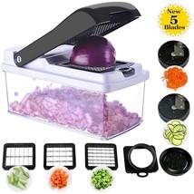 Vegetable Chopper Spiralizer Slicer, 5 Blades Onion Chopper Slicer Dicer... - €30,98 EUR