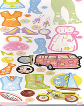 fun in the sun sheet of peel off stickers  ideal cards, papercraft, displays, sc