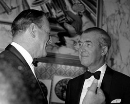 John Wayne Candid With James Stewart In Tuxedo 1960'S 16X20 Canvas Giclee - $69.99