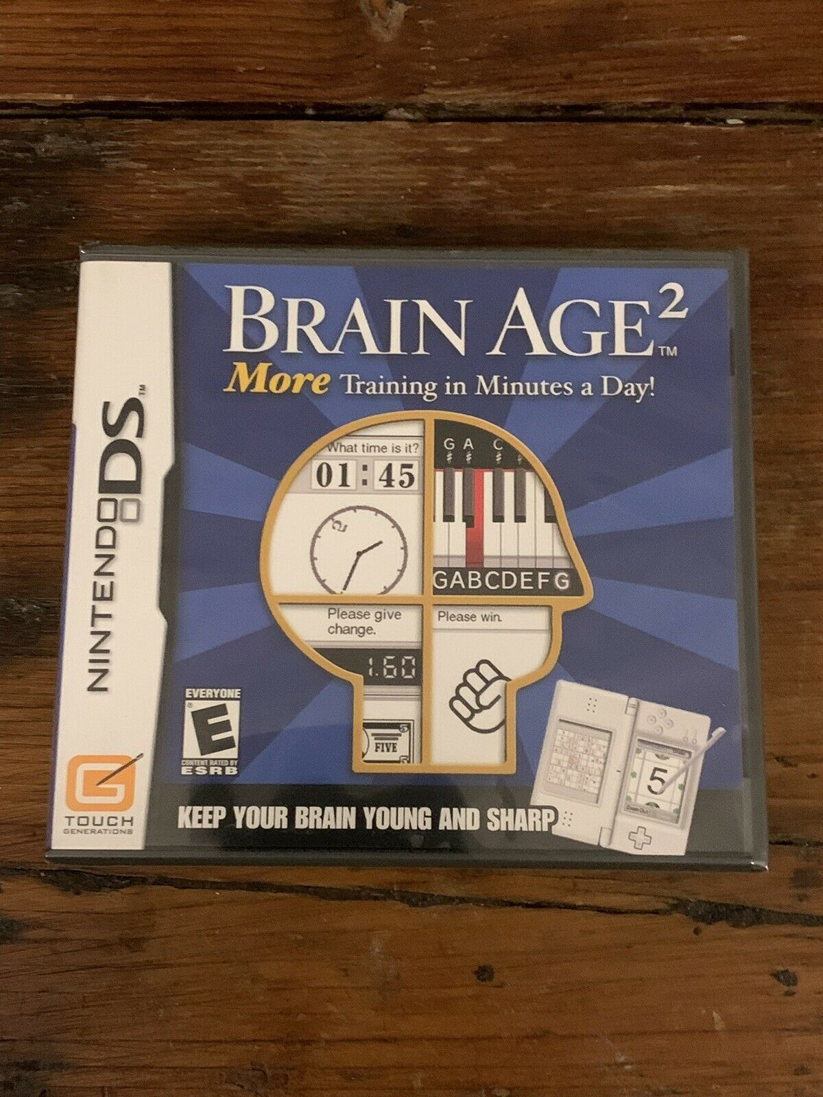 Brain Age 2: More Training in Minutes a Day Nintendo DS **BRAND NEW, SEALED**