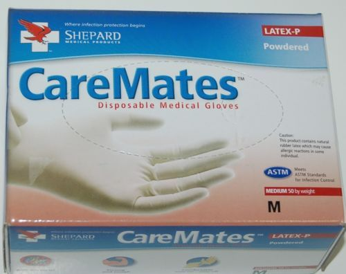 CareMates Disposable 05202020 Medical Gloves Size Medium Color White