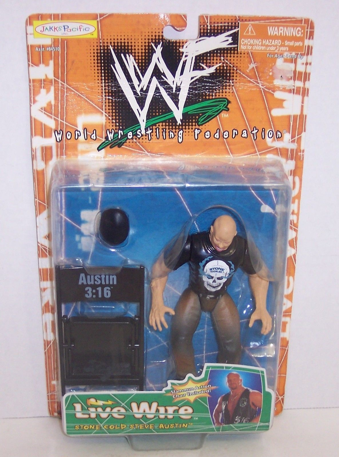 "Primary image for 1998 Jakk's Pacific WWF Live Wire ""Steve Austin"" Action Figure WWE {1228}"