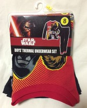 Cuddl Duds Boys STAR WARS Size 8 Long Thermal Underwear 2 pc Thermal Sui... - $14.50