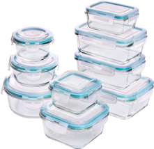 Utopia Kitchen [18-Pieces Glass Food Storage Containers with Lids - Meal... - $33.56